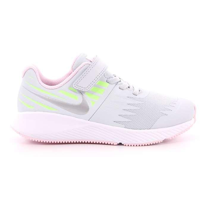d7e8f88464 Scarpa Strappi + Elastico Nike Bambina Grigio Scarpe 524 - 921442 005 ...